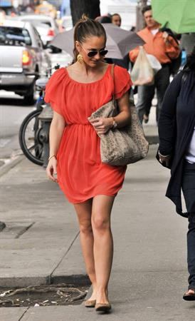 Minka Kelly out about New York City on May 21, 2011