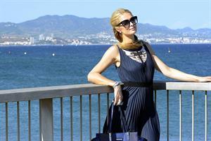 Paris Hilton Visting  Amnesia Port Forum Project  August 9, 2013