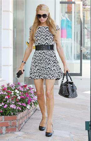 Paris Hilton at the Sunset Plaza in West Hollywood September 5, 2013