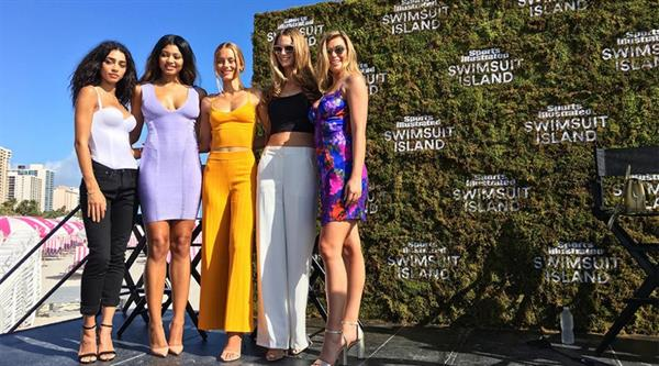 Samantha Hoopes Swimsuit Island Presscon