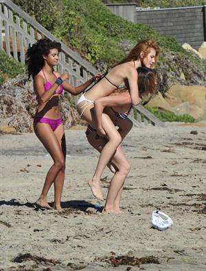 Bella Thorne in a bikini in Malibu on August 18, 2014