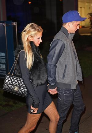 Paris Hilton Arrives with boyfriend River Viiperi to BOA Steakhouse Restaurant in West Hollywood (November 17, 2011)