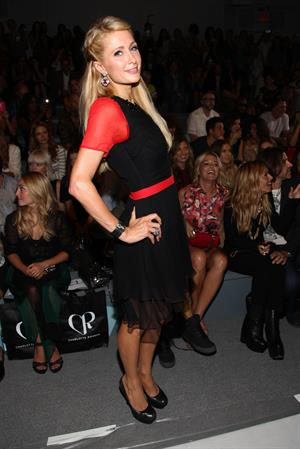 Paris Hilton - Charlotte Ronson Spring 2013 fashion show during Mercedes Benz Fashion Week Sept 7, 2012