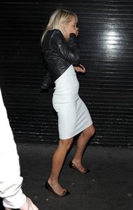 Aisleyne Wallace at a Christmas party on November 30, 2011