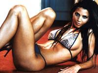 Charisma Carpenter in a bikini