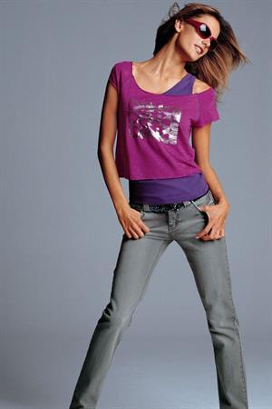 Alessandra Ambrosio in a Victoria's Secret photo shoot