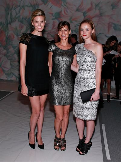 Alexis Bledel Monique Lhuillier Spring 2011 fashion show on September 13, 2010