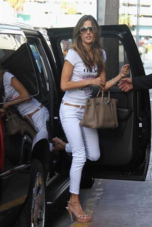 Alessandra Ambrosio arrives at Victoria's Secret store in Miami on June 2, 2011