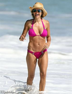 Lisa Rinna at the beach in Malibu August 2010