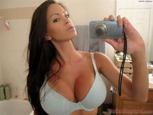 Talia Shepard takes some self shots of her and her little friend