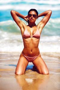 Nicole Harrison in a bikini