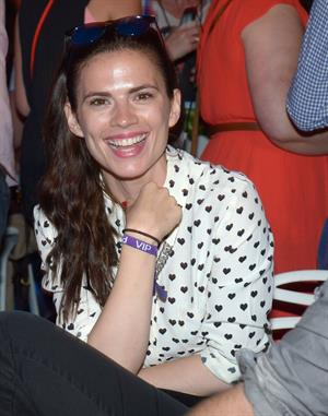 Hayley Atwell Barclaycard British Summer Time Concert - Day 2 in London, Jul. 6, 2013