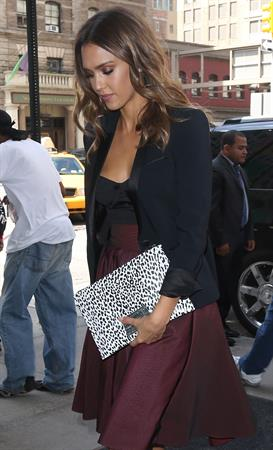 Jessica Alba out and about in New York City August 13, 2014