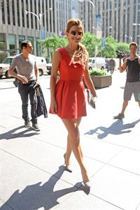 Maria Menounos visiting SiriusXM studios in New York City on  August 5, 2014