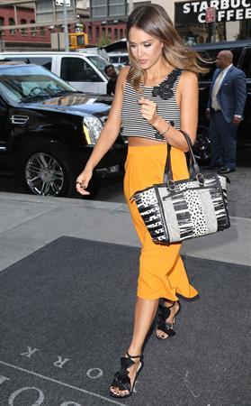 Jessica Alba walking in New York City on August 05, 2014