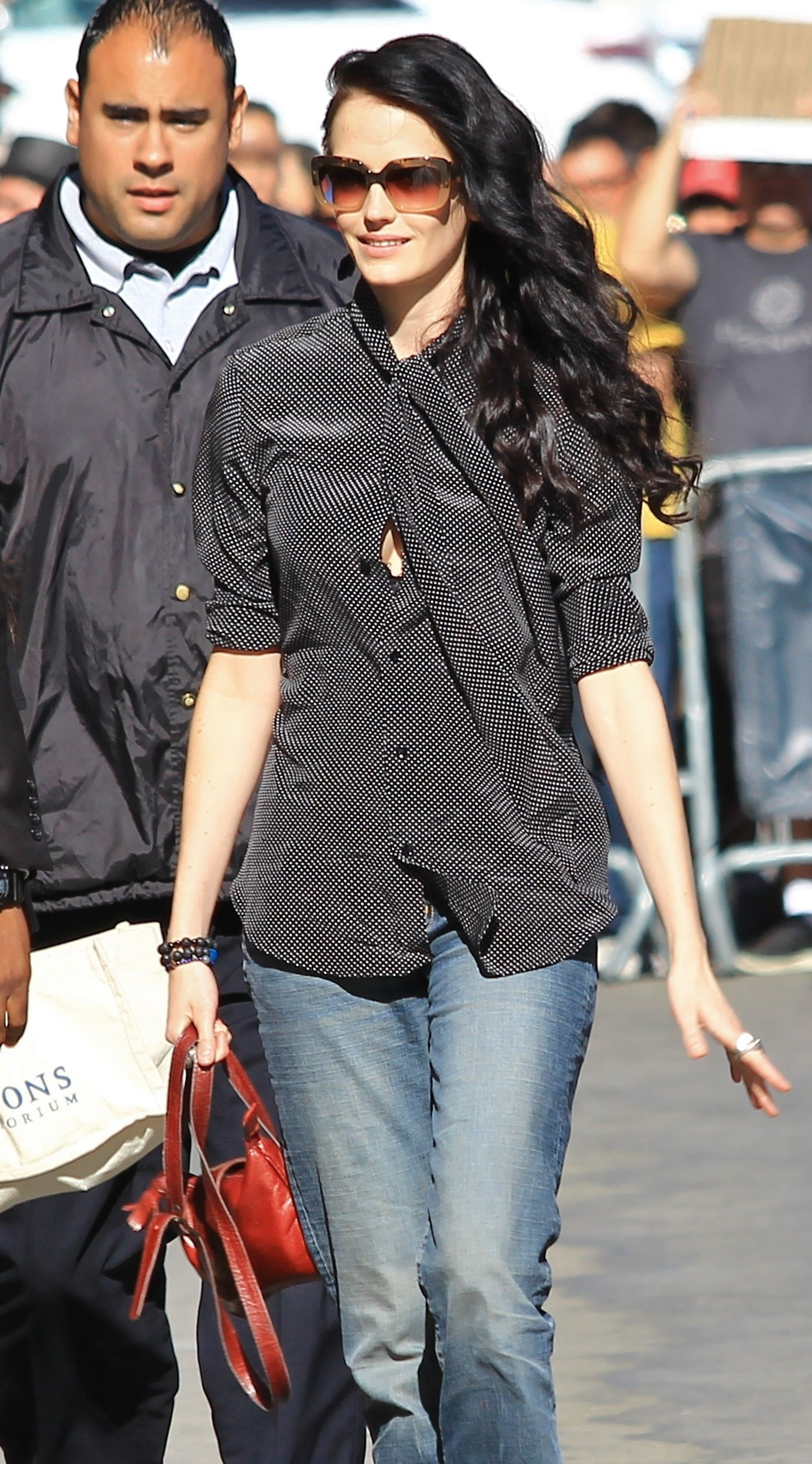 Eva Green at Jimmy Kimmel Live!, Hollywood August 05, 2014