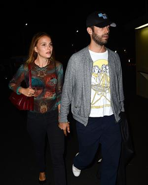 Natalie Portman at Jay Z and Beyonce concert at Rose Bowl August 2, 2014