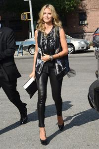 Heidi Klum arriving at BCBG Max Azria Show in New York City on September 5, 2013