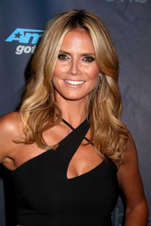 Heidi Klum attending the  America's Got Talent  Season 8 Pre-Show Red Carpet Event in New York on Sept 17, 2013