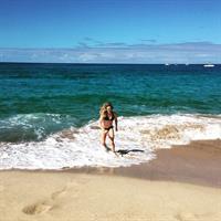Jessie Diggins in a bikini