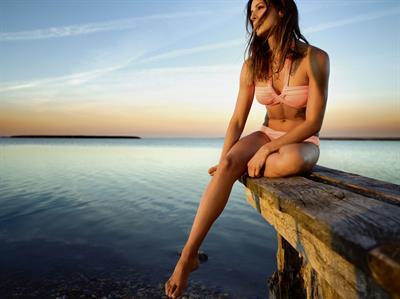 Julia Dujmovits in a bikini