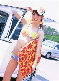 Nozomi Sasaki in a bikini