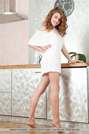Adriana F all in white