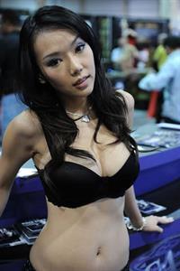 Maureen Chen in lingerie