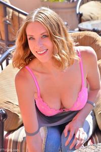 Anya Amsel in lingerie