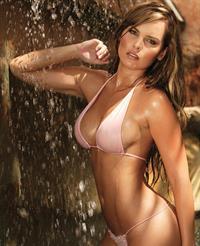 Melissa Giraldo in a bikini