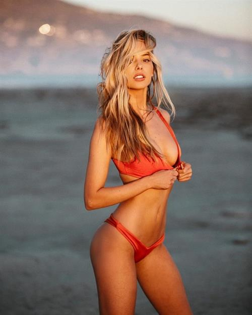 Celeste Bright in a bikini