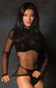 Kelly Hu in lingerie