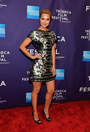 Arielle Kebbel attends the Supporting Characters premiere during the Tribeca Film Festival on April 20, 2012