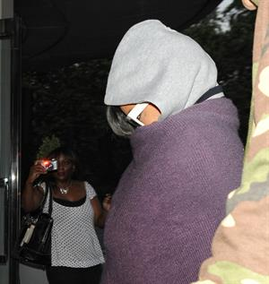 Rihanna - Covers her face while out in London (19.07.2013)