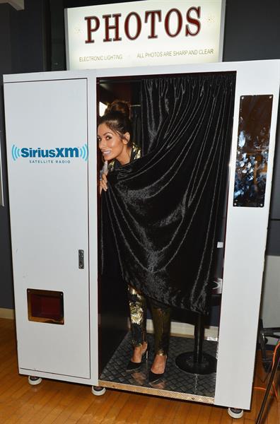 Sarah Shahi Visits Sirius M Studios, September 19, 2013