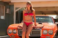 Juliet Simms in a bikini