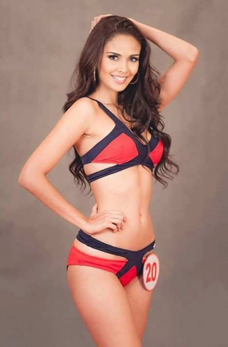 Megan Young in a bikini