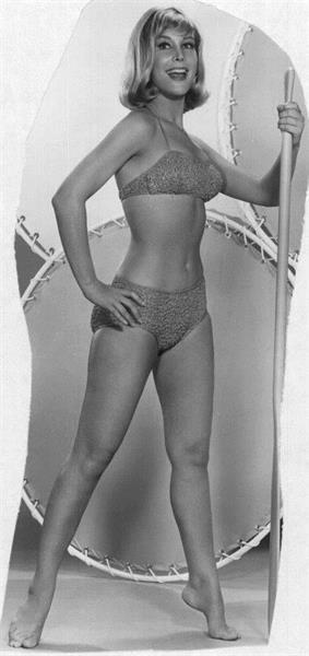 Barbara Eden in lingerie