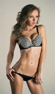 Olya Abramovich in lingerie