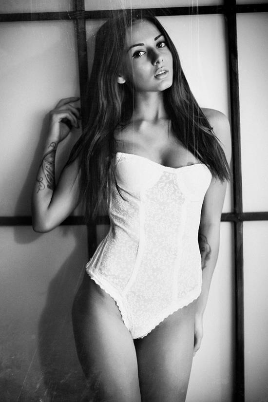 Mila Ryzhkova in lingerie