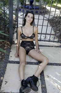 Denise Schaefer in lingerie
