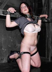 Sara Scott in lingerie