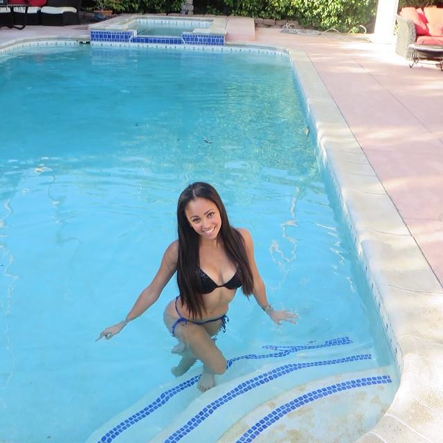 Vanessa Morgan in a bikini
