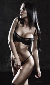 Gayana Bagdasaryan in lingerie