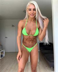 Lauren Simpson in a bikini