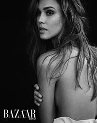 Jessica Alba topless and sexy new photo shoot for Harper's Bazaar.