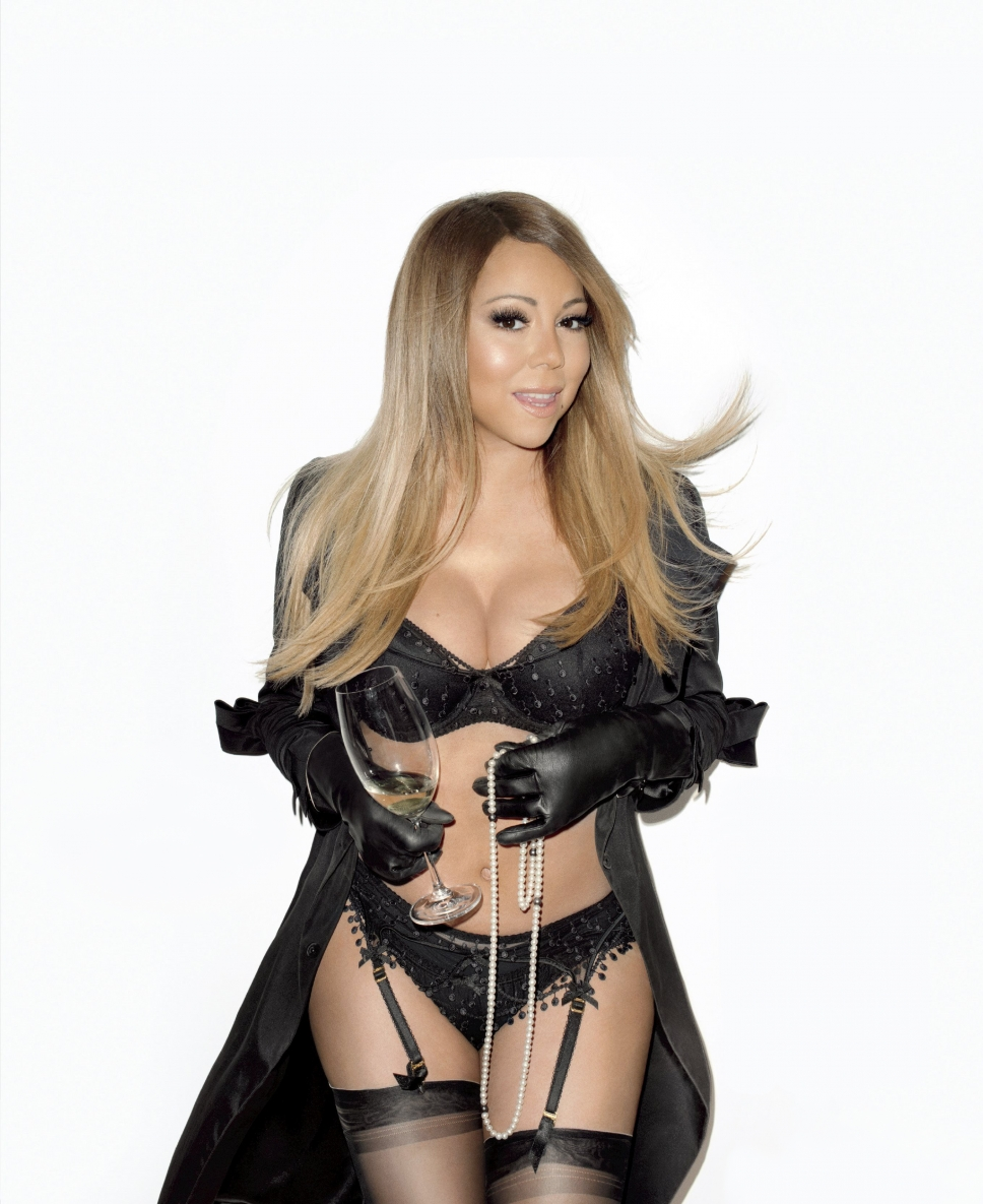 Mariah Carey in lingerie