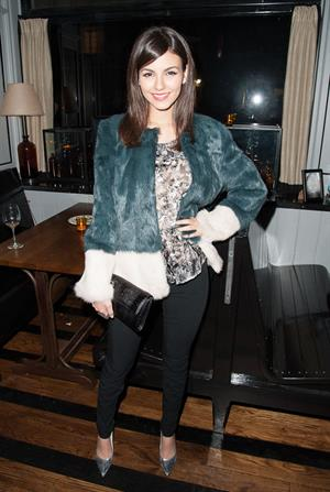 Victoria Justice The Cinema Society screening of Beautiful Creatures in NY 2/11/13