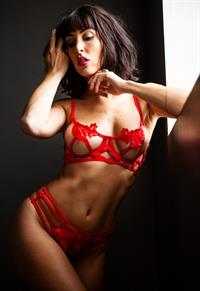 Cat Lily Woo in lingerie