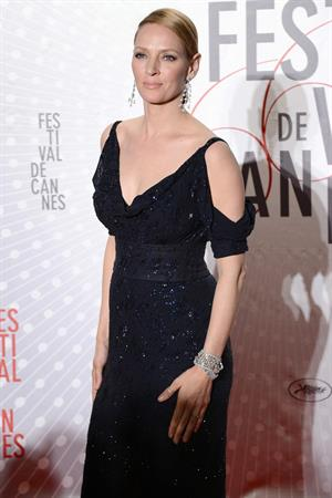 Uma Thurman attends the Palme D'Or Winners Dinner during The 66th Cannes Film Festival May 26, 2013